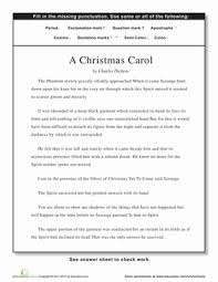 punctuation a christmas carol worksheet education com