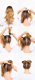 diy hairstyles in 5 minutes two buns are better than one double bun hair tutorial