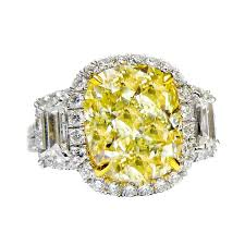canary yellow engagement ring canary yellow 5 01 carat fancy yellow ring for sale at 1stdibs
