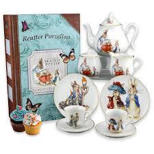 beatrix potter tea set reutter porcelain s beatrix potter tea set with box large