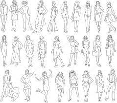 sketches of women u2014 stock vector sonechko 3092138