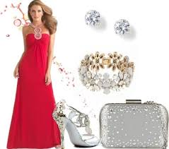 prom accessories styling floral prom dress with silver accessories