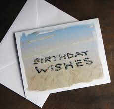 beach theme birthday cards birthday wishes set of 3