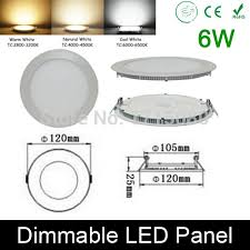 Led Panel Light Fixtures High Quality Dimmable 6w Led Panel Light Led Recessed