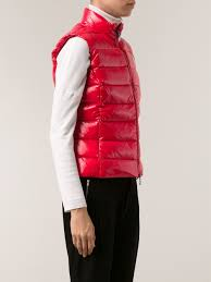 moncler u0027ghany u0027 gilet jacket in red lyst