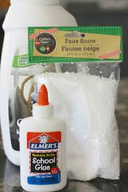 fake snow slime recipe for winter science activities fake snow