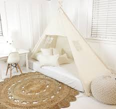 Canopy Bedding Play Tent Canopy Bed Unbleached Canvas Single Domestic