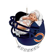 chicago bears personalized baby u0027s first christmas ornament by the