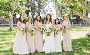 joanna august bridesmaid dresses nouvelle amsale in sand and joanna august in all tomorrow s