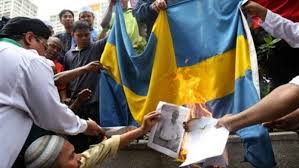 the war against the swedish flag frontpage mag
