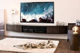 modern tv stands shelves awesome floating curved modern tv stand entertainment