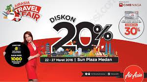 airasia travel fair airasia travel fair 2016 di sun plaza medan kota com