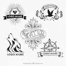 tattoo logos selection old vector free download