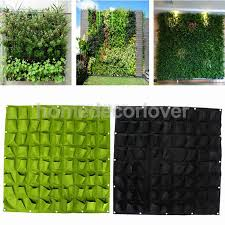 Indoor Garden Wall by 72 Pockets Hanging Garden Wall Flower Planter Bag Indoor Outdoor