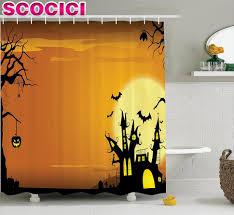 Palm Tree Shower Curtain Walmart by Curtains Halloween Bathroom Rug Set Vintage Halloween Shower