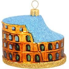 colosseum of rome glass ornament bronner s