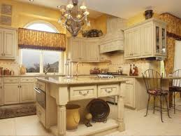 picture of small tuscan kitchen island design with sink