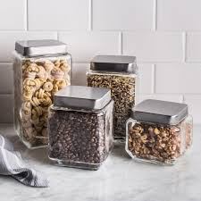glass canisters kitchen ksp quatra square glass canister set kitchen stuff plus