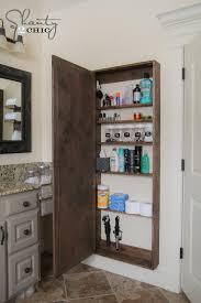floor length mirror cabinet awesome diy bathroom mirror storage case shanty 2 chic for full