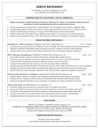 Medical Administration Cover Letter Administrative Support Resume Samples Administrative Assistant
