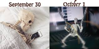 the u0027september 30th vs october 1st u0027 meme is halloween ready just