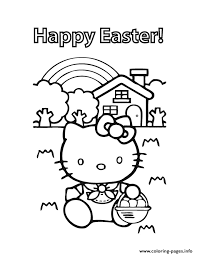 kitty happy easter coloring pages printable