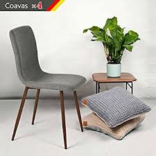 Metal Leg Dining Chairs Dining Chairs Coavas Fabric Cushion Kitchen Chairs With Sturdy