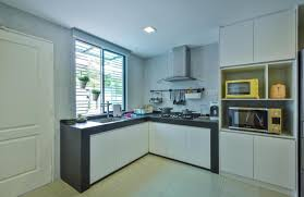 kitchen malaysia design simple yet contemporary style white