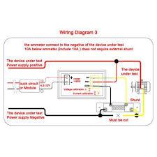 vktech dc 0 100v voltmeter ammeter 10a red led panel amp digital