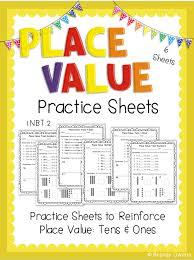 place value freebie tens u0026 ones practice sheets 1 nbt 2