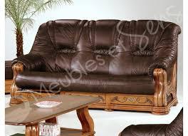 canapé cuir et bois rustique 130 salon cuir et bois ensemble salon canap convertible 3 places