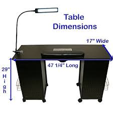 beauty black steel vented double storage manicure nail table desk