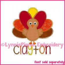 colored pencil turkey applique embroidery design 4x4 5x7 6x10 7x11