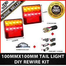 2 led trailer lights 2 x 10 led trailer lights kit trailer plug cable number plate