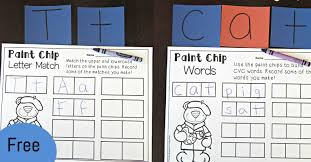 Paint Chips by Paint Chip Letters And Words The Kindergarten Connection