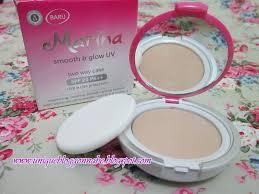 Bedak Marina wajah mulus alami dengan si praktis marina smooth glow uv series