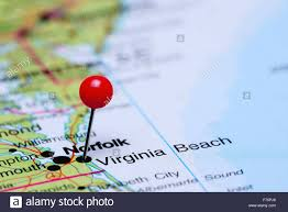 A Map Of Virginia by Virginia Beach Pinned On A Map Of Usa Stock Photo Royalty Free