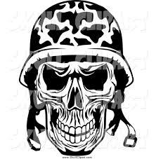 spooky clip art skulls