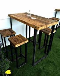 Patio Bar Height Table And Chairs by Rustic Bar Height Table By Reimaginedwoodcraft On Etsy Tay U0027s