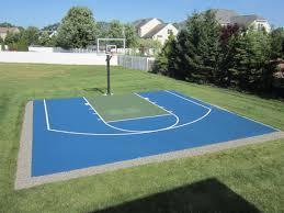 Design Of Indoor Outdoor  Backyard Basketball Courts Exterior Decor - Home basketball court design