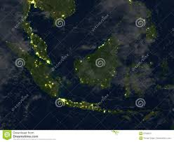 World Map At Night by Malaysia At Night On Planet Earth Stock Illustration Image 87636911