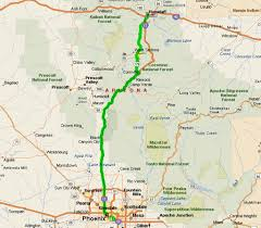Sedona Map Phoenix U003e Flagstaff Via Sedona Day 4