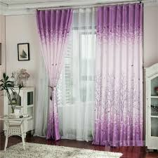 Sheer Purple Curtains by Modern Floral Tulle Voile Door Window Curtain Drape Panel Sheer