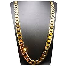 gold cuban necklace images Gold chain necklace 11mm 24k diamond cut smooth cuban link with a jpg