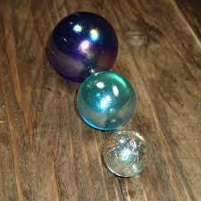 colored glass vintage glass marbles large glass balls