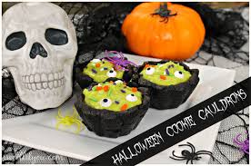 halloween dessert cookie cauldrons sweet lil you