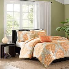 shop intelligent design senna damask orange collection the home