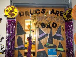 20 red ribbon week halloween door decorating ideas red ribbon