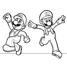 Coloriage Mario Et Luigi Awesome Mario Luigi Az Coloriage  Best