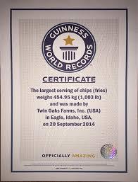 twin oaks farms id twin guinness world record tater dash